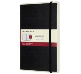 Caderno Grande Pautado Moleskine Paper Tablet 1 Preto