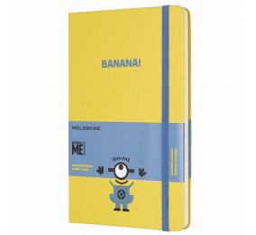 Caderno Grande Pautado Moleskine Minion Amarelo
