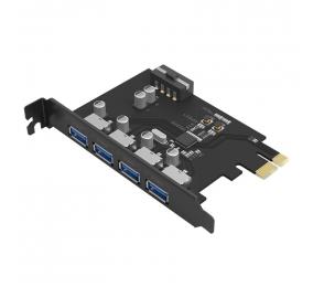 Placa de Expansão Orico PAS-5U 4-Port USB3.0 PCI-E Preta