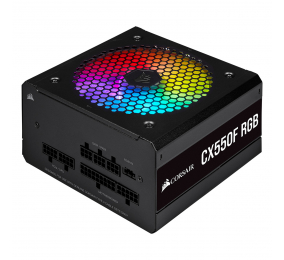Fonte de Alimentação Corsair CX-F RGB CX550F 550W 80+ Bronze Full Modular Preta