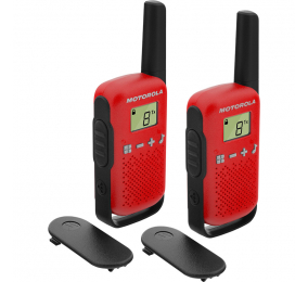 Walkie Talkie Motorola TLKR T42 (16 Canais, 4km) Vermelho - Pack 2
