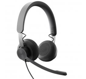 Headset Logitech Zone Wired UC USB Preto