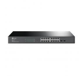 Switch TP-Link T1600G-18TS (TL-SG2216) JetStream 16-Portas Gigabit Smart Switch c/ 2 Slots SFP
