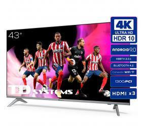 "Televisão Plana TD Systems K43DLJ12US SmartTV 43"" LED 4K UHD Android"