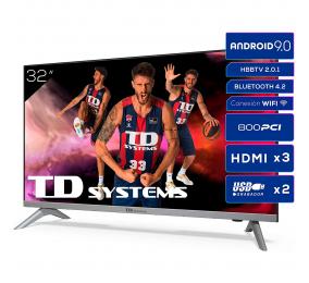 "Televisão Plana TD Systems K32DLJ12HS SmartTV 32"" LED HD Ready Android"