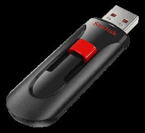 Pendrive SanDisk Cruzer Glide 64GB USB 2.0 Preta