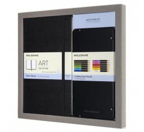 Bundle Moleskine - Caderno de Desenho Grande + Caixa com 12 Lápis Aguarela