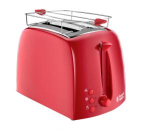 Torradeira Russell Hobbs Textures 2 Slice Toaster Vermelha