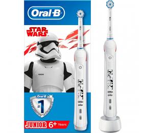 Escova de Dentes Elétrica Oral-B Junior Star Wars Branca