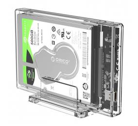 """Caixa Externa 2.5"""" Orico 2159C3 SATA I/II/III para USB 3.1 Type-C Transparente"""