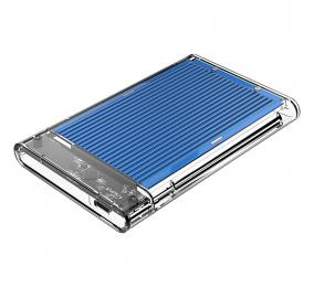 """Caixa Externa 2.5"""" Orico 2179C3 SATA I/II/III para USB 3.1 Type-C Transparente/Azul"""