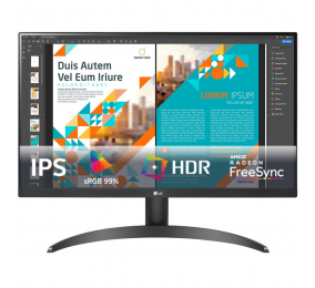 "Monitor LG 24QP500-B IPS 24"" QHD 16:9 75Hz FreeSync"
