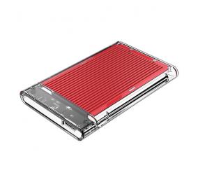 """Caixa Externa 2.5"""" Orico 2179U3 SATA I/II/III para USB 3.0 Type-B Transparente/Vermelha"""