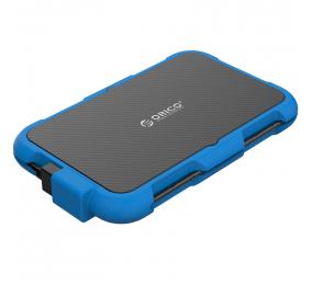 "Caixa Externa 2.5"" Orico 2739U3 Silica Gel SATA I/II/III para USB 3.0 Type-A Preta/Azul"