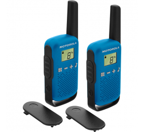 Walkie Talkie Motorola TLKR T42 (16 Canais, 4km) Azul - Pack 2