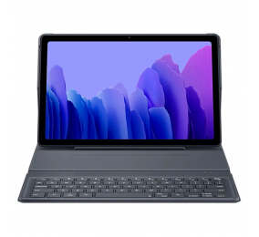 Capa Teclado Samsung Galaxy Tab A7 Keyboard Book Cover Cinza