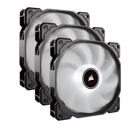 Ventoinha 120mm Corsair 1400RPM AF120 LED (2018) Branco 4 Pinos PWM (Triple Pack)