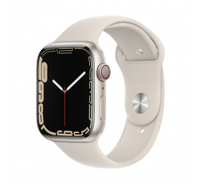 Apple Watch Series 7 GPS+Cellular 45mm Alumínio Luz das estrelas c/ Bracelete Desportiva Luz das estrelas