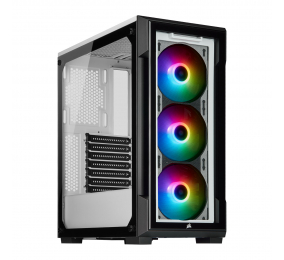 Caixa ATX Corsair iCUE 220T RGB Vidro Temperado Branca
