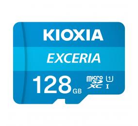 Cartão Memória Kioxia Exceria C10 UHS-I U1 microSDXC 128GB + Adaptador SD