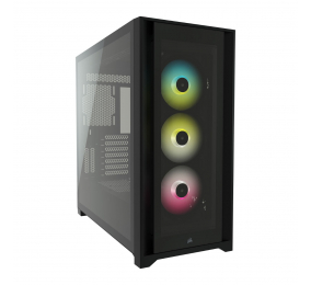 Caixa Extended-ATX Corsair iCUE 5000X RGB Tempered Glass Preta