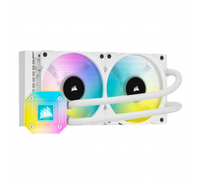 Water Cooler CPU Corsair iCUE H100i RGB Elite Capellix 240mm Branco