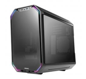Caixa Micro-ATX Antek Dark Cube Tempered Glass Preta