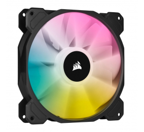 Ventoinha 140mm Corsair 1200RPM SP140 RGB ELITE 4 Pinos PWM (Single Pack)