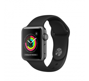 Apple Watch Series 3 GPS 38mm Alumínio Cinzento Sideral c/ Bracelete Desportiva Preta