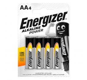 Pilhas Alcalinas Energizer Alkaline Power 1.5V LR6 AA (4 Unidades)
