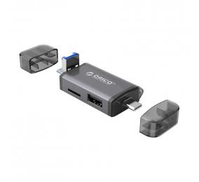 Leitor de Cartões de Memória Orico 3CR61 6-in-1 USB 3.0 Cinza