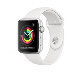 Apple Watch Series 3 GPS 38mm Alumínio Prateado c/ Bracelete Desportiva Branca
