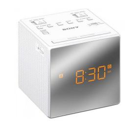 Rádio Despertador Sony ICF-C1T FM/AM com Alarme Duplo Branco