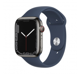 Apple Watch Series 7 GPS+Cellular 45mm Aço Inoxidável Grafite c/ Bracelete Desportiva Azul Abissal