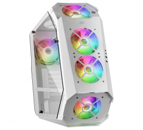 Caixa ATX Mars Gaming MC51 Tempered Glass ARGB Branca