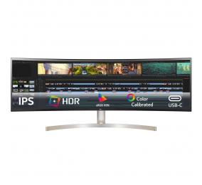 """Monitor Curvo LG 49WL95C-W IPS 49"""" Dual QHD 32:9 60Hz"""