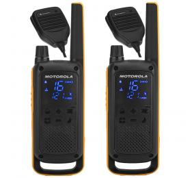 Walkie Talkie Motorola TLKR T82 Extreme RSM (16 Canais, 10Km) - Pack 2