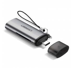 Leitor de Cartões UGREEN CM184 USB-C para TF + SD