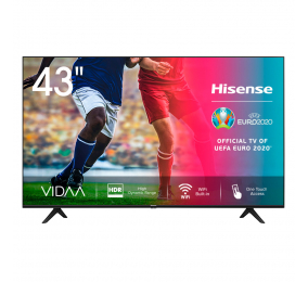 "Televisão Plana Hisense Série A7100F SmartTV 43"" LED 4K UHD"