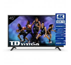 "Televisão Plana TD Systems K45DLJ12US SmartTV 45"" 4K UHD Android"