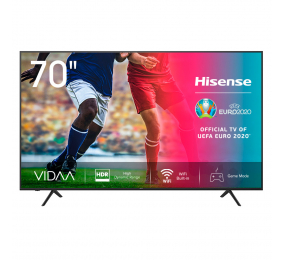 "Televisão Plana Hisense Série A7100F SmartTV 70"" LED 4K UHD"