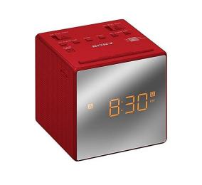 Rádio Despertador Sony ICF-C1T FM/AM com Alarme Duplo Vermelho