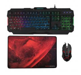 Teclado + Rato + Tapete Mars Gaming MCP118 Gaming Combo RGB PT