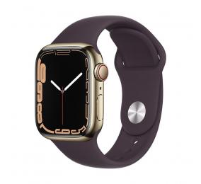 Apple Watch Series 7 GPS+Cellular 41mm Aço Inoxidável Dourado c/ Bracelete Desportiva Cereja escura