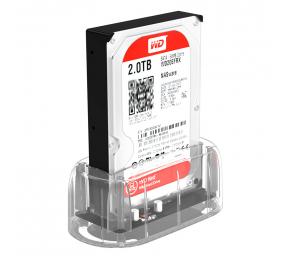 "Dock Station Orico 6139U3 3.5""/2.5"" HDD/SSD para USB 3.0 Type-B Transparente"