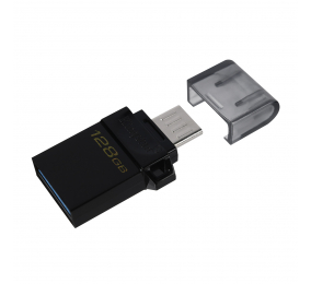 Pen Drive Kingston DataTraveler microDuo3 Gen2 128GB USB 3.2 Gen1 Preta