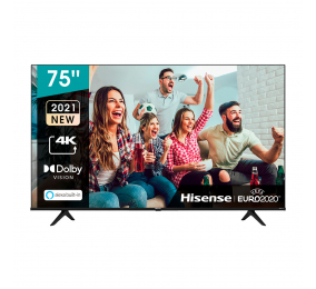 "Televisão Hisense 75A6G SmartTV 75"" LED 4K UHD"