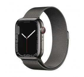 Apple Watch Series 7 GPS+Cellular 45mm Aço Inoxidável Grafite c/ Bracelete Loop Milanesa