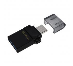 Pen Drive Kingston DataTraveler microDuo3 Gen2 64GB USB 3.2 Gen1 Preta