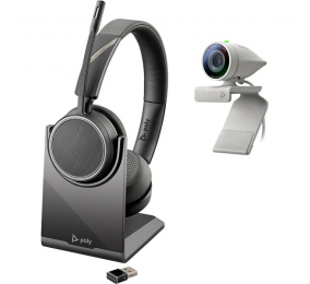 Kit Webcam Poly Studio P5 com Headset Voyager 4220 UC